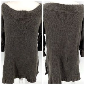 Free People mushroom off slouchy wool blend sweate